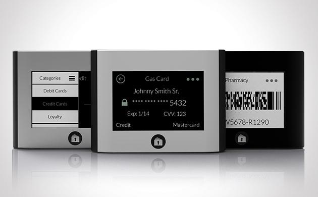 Wocket Smart Wallet โดย Nxt-ID Inc. (ที่มาของภาพ: http://wocketwallet.com/)